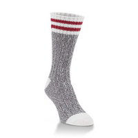 Crescent Sock  Weekend Ragg Crew Charcoal Rugby Stripe