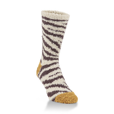 Crescent Socks Cozy Crew French Toast Leopard