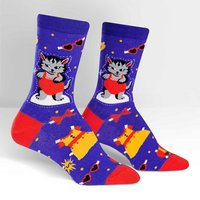 Sock It To Me Dress Up Meow Crew Socks