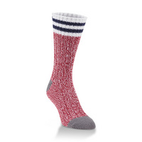 Crescent Sock  Ragg Crew Pepper Rugby Stripe