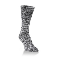 Crescent Sock  Slub Lt Crew Harvest Moon