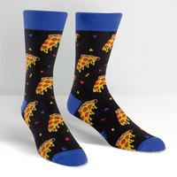 Sock It To Me Mens Crew Sock Pizza Party