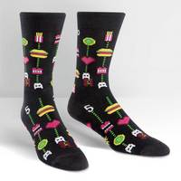 Mens Crew Sock Gamer Food