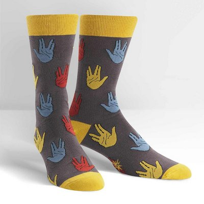 SOCK IT TO ME Salutations Mens Crew Socks
