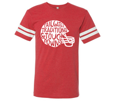 RUBYS RUBBISH Football Helmet Ringer Tee