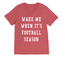 RUBYS RUBBISH Wake Me When Its Football Season, VNeck