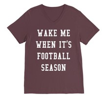 Football Wake Me Up VNeck Tee