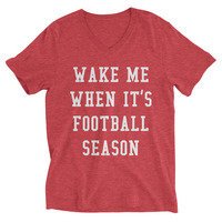 Rubys Rubbish  Football Wake Me Up V Neck Tee