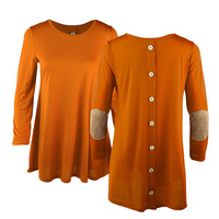 GAMEDAY COUTURE WEEKEND RETREAT BUTTON BACK TUNIC