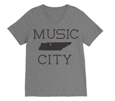 RUBYS RUBBISH Nashville City Tee, VNeck