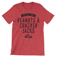 Rubys Rubbish  Peanuts & Cracker Jacks Crew Neck (White Graphic)