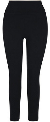 CAPELLI Solid Jersey Yoga Legging with Foldover Waistband