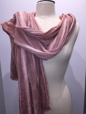 Fantasia Oblong with Fray  Pink