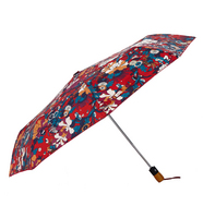 Sakroots Umbrella (Crimson Flower Power)