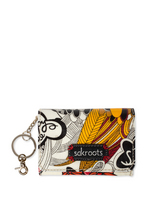 Sakroots Flap ID Keychain (Natural Peace)