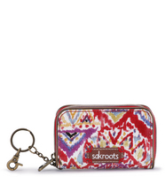 Sakroots Zip ID Case (Sweet Red Brave Beauti)