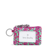 Vera Bradley Lighten Up RFID Zip ID Floral Ditsy Dot Combo