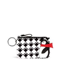 Vera Bradley Novelty Zip ID Case Penguin Check