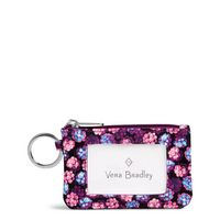 Vera Bradley Lighten Up Zip ID Case Berry Burst