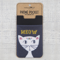 Natural Life Phone Pocket Meow Cat