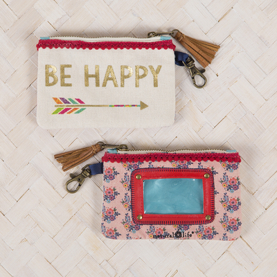 Natural Life ID Pouch Be Happy Arrow