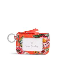 Vera Bradley Iconic Zip ID Case Coral Floral