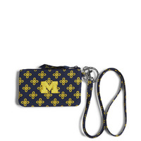 Vera Bradley University of Michigan Zip ID Lanyard