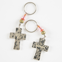 Natural Life Token Keychains CrossBlessed
