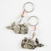 Natural Life Token Keychain Whale Go With Flow