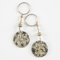 Natural Life Token Keychain Life Is Good Enjoy