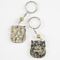 Natural Life Token Keychains OwlDrive Wisely