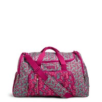 Vera Bradley Lighten Up Ultimate Gym Bag Floral Ditsy Dot Combo