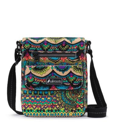 Sakroots Small Flap Messenger Radiant One World