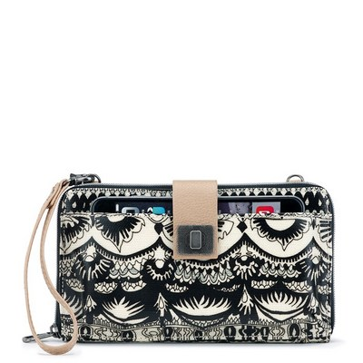 Sakroots Large Smartphone Crossbody Black and White One World