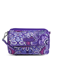 Vera Bradley AIO Crossbody, iPhone, Lilac Tapestry