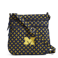 Vera Bradley University of Michigan Triple Zip Hipster