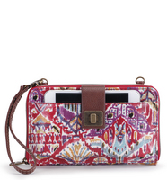 Sakroots Large Smartphone Crossbody (Sweet Red Brave Beauti)