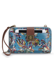 Sakroots Large Smartphone Crossbody (Teal Treehouse)