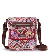 Sakroots Small Flap Messenger (Sweet Red Brave Beauti)