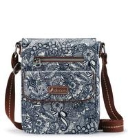 Sakroots Small Flap Messenger Navy Spirit Desert