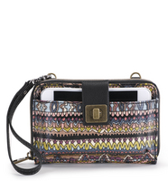 Sakroots Smartphone Crossbody (Taupe One World)