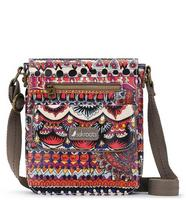 Sakroots Small Flap Messenger Camel One World
