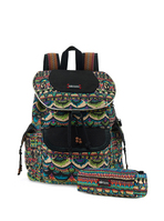 Sakroots Flap Backpack Radiant One World