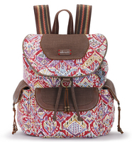 Sakroots Flap Backpack (Sweet Red Brave Beauti)