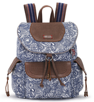 Sakroots Flap Backpack (Navy Spirit Desert)