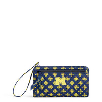Vera Bradley University of Michigan Front Zip Wristlet