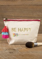 Natural Life Indi Blue Pouch Be Happy Arrow