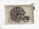 RUBYS RUBBISH Football Helmet, Natural Canvas, Pencil Pouch