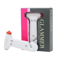Blingsting Glammer White Emergency Escape Hammer for the Car, Visor Strap Included