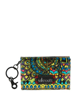 Sakroots Flap ID Keychain (Radiant One World)